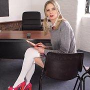 Pigtails Blonde School Fantasy Striptease