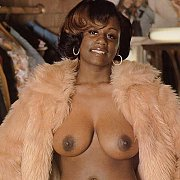 Chesty Ebony Classic Woman Showing Herself