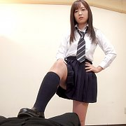 Japanese Schoolgirl Gives Blowjob