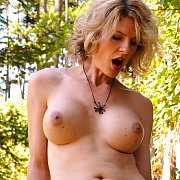 Topless Transsexual Exposing Her Shaft