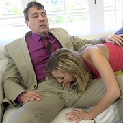 Dirty Coed Gives Up All Holes To Stepdad