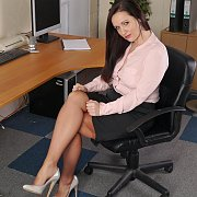 Stockings And Heels Secretary