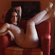 Lusty Italian Model Posing
