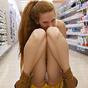 Pantie Flashing Freckled Ginger Girl