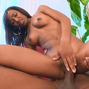 Ebony Chick Riding Cock