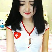 Asian Strips Nurse Uniform