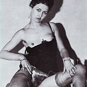 Vintage Photo With Woman Showing Her Hairy Pussy