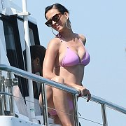 Celebrity On A Boat In Swimsuit