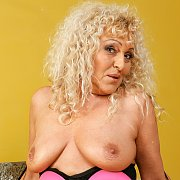 Busty Blonde Granny Sissy