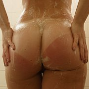 Tan Lines With Freckles Girl In Shower