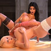 Wicked Red And Black Latex 3D Model