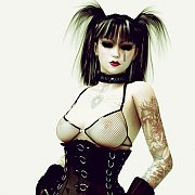 Gothic 3D Model In Lusty Latex