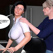 Latex And Fishnet Lingerie 3D Kink