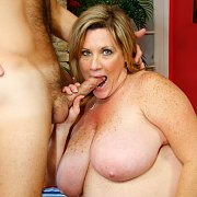 Lubed Up Chubby Mature Sex