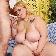 Big Busty Blonde BBW Blowjob