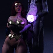 Female superher fucked by zombie