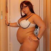 Horny Pregnant Pornstar