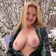 Plaid Robe In Snow