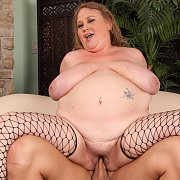 Fat Mommy In Sexy Black Fishnets