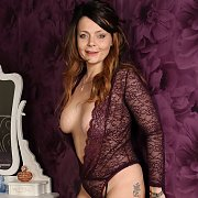 Gemma Gold In Her Sheer Lingerie
