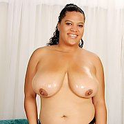 Sexy Latina BBW Gets Naked
