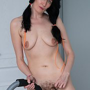 Naughty Milf Showing Her Tits And Fur Twat