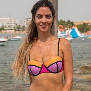 Bikini Girl Gets Topless At The Water