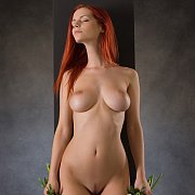 Big Boobs Redhead Babe Nude