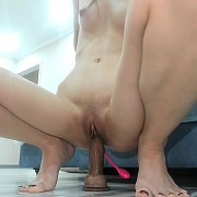 Asian Babe Kaila Wang In Fishnets