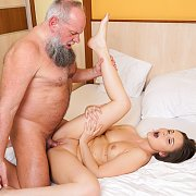 Grandpa Bangs Brunette Teen