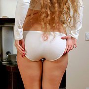 Sexy Ass Young Woman In Cotton Knickers