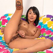 Asian Woman Showing Her White Cotton Knickers