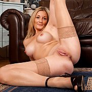 Lusty Mom In Stockings and Heels Showing Off