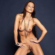 Hot Legs Nude Brunette In Heels