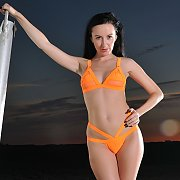 Sophia Smith Orange Bikini