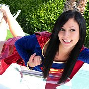 Cosplay Cutie Doing Her Best Supergirl Pose