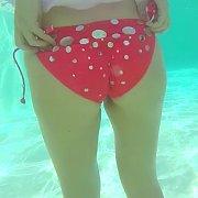 Busty Bikini Bottom Girls In Pool