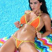 Big Tits Bikini Babe Poolside