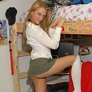 Sexy Schoolgirl Teasing