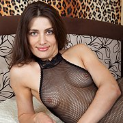 Egina In Her Fishnet Body Stocking