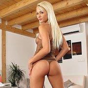 Lusty Thong Pantied Ass Blonde