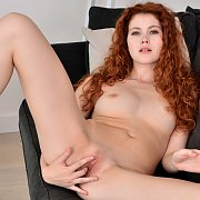 Freckled Face Redhead Teen Diddles