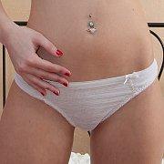 Sweet white teen thong