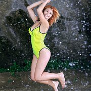 Swimsuit Beauty Gets Naked Outdoors