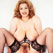 Big Titties Classic In Lace Top Garter Stockings