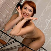 Naked Red Hair Milf Bent Over Table
