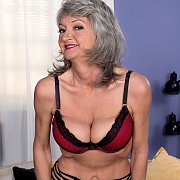 Lusty Old Mom With Grey Hair Teasing At Home