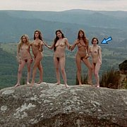 Five Nude Actresses Outdoors On Film