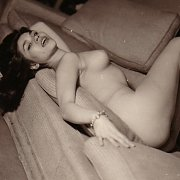 Naked Lady On The Couch In Vintage Pic