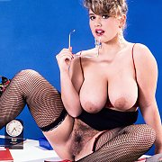Busty Classic Tracy West In Fishnets